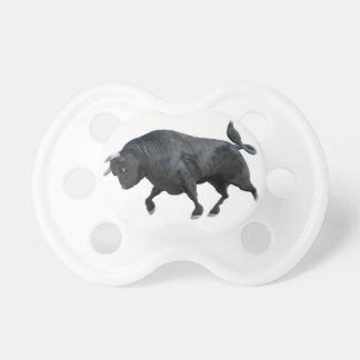 A Cartoon Bull in Side Profile Pacifier