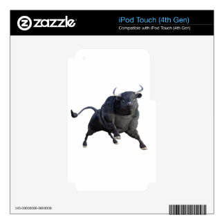 A Cartoon Bull Wheeling to The Right iPod Touch 4G Decals