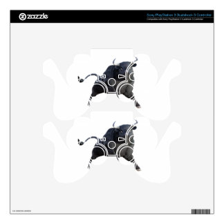 A Cartoon Bull Wheeling to The Right PS3 Controller Decal