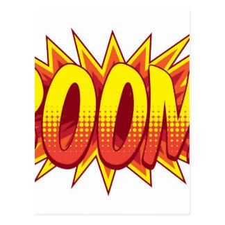 A cartoon comic book boom explosion sound effect i postcard