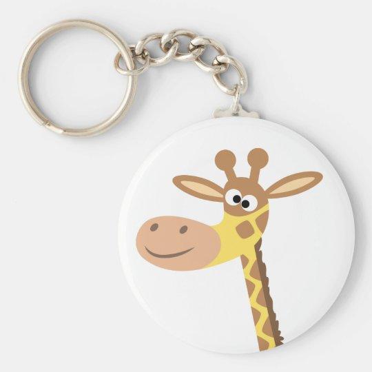 A cartoon giraffe keychain