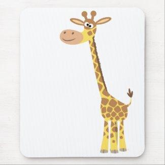 A cartoon giraffe mousepad mousepad