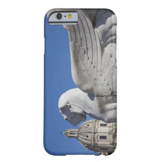 A carved winged lion at the front of the Victor Barely There iPhone 6 Case