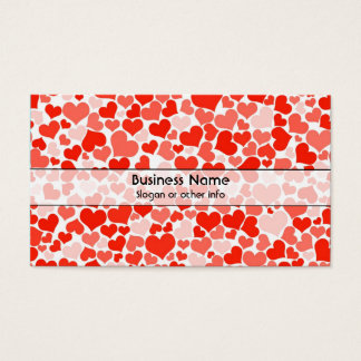 A Cascade of Love -  Hearts Pattern Business Card