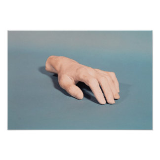 A cast of the hand of Frederic Chopin Poster