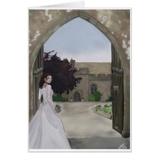 A castle wedding greeting card. card