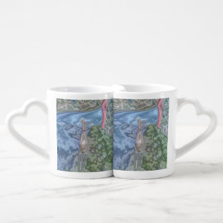 A cat abstract pattern lovers mug