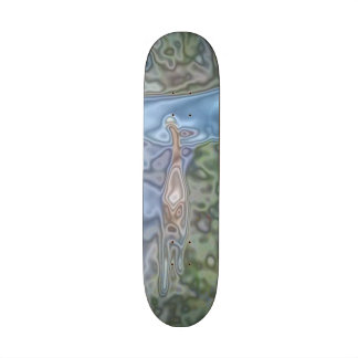 A cat abstract pattern skateboard deck