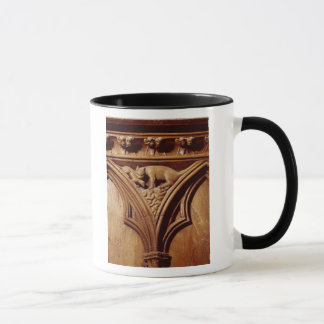 A cat and mouse, from a choir stall mug