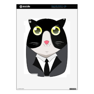 a Cat born with Tuxedo suit Skins For iPad 2