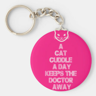 A Cat Cuddle A Day Keeps The Doctor Away Keychain