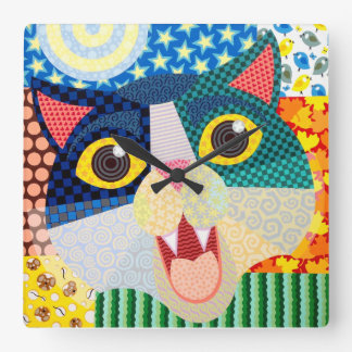A Cat For All Seasons Clock by Laura Dumm