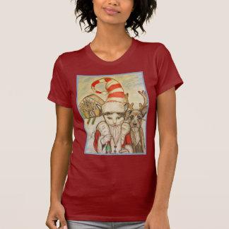 A Cat in a Santa Hat T-Shirt