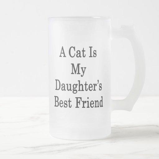 A Cat Is My Daughter's Best Friend Coffee Mugs