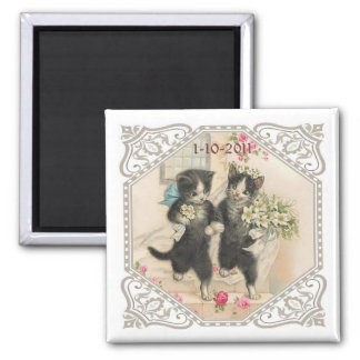 A Cat Lover's Save the Date Wedding Magnet