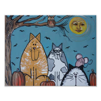 A Cat s Harvest Moon Posters