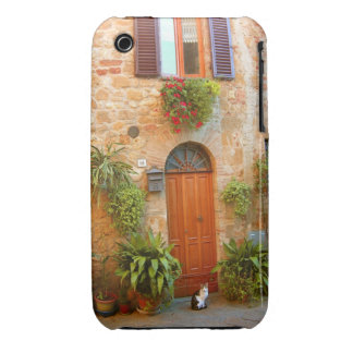 A cat seeks entrance to home in Pienza, Italy. iPhone 3 Case