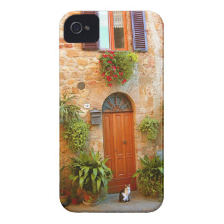A cat seeks entrance to home in Pienza, Italy. iPhone 4 Case-Mate Case