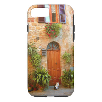 A cat seeks entrance to home in Pienza, Italy. iPhone 7 Case