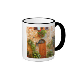 A cat seeks entrance to home in Pienza, Italy. Ringer Mug