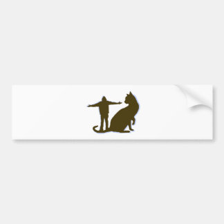 a cat this big truth of fiction bumper sticker