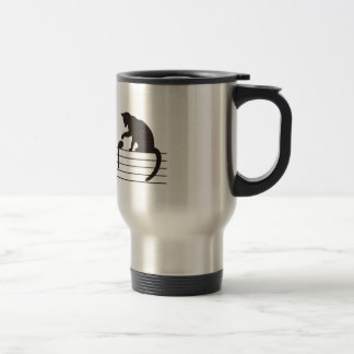 A Cat Toying with Notes 15 Oz Stainless Steel Travel Mug