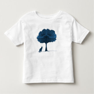 A cat under a tree toddler t-shirt