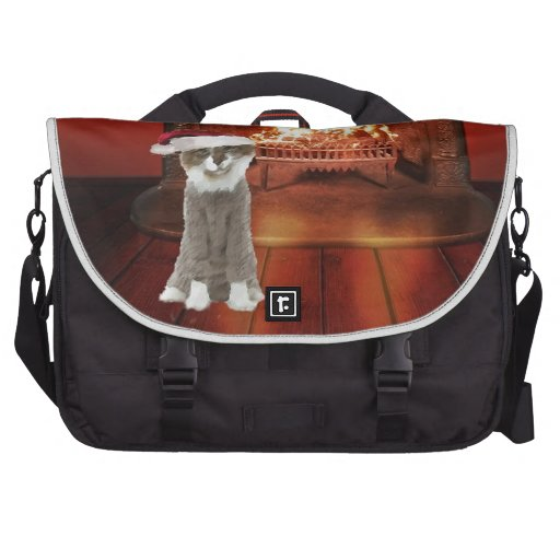 A Cat With Sweater Laptop Messenger Bag