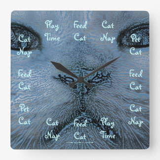 A Cat's Day Large Wall Clock