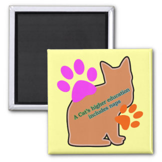A Cats Higher Education Includes Naps Fridge Magnet