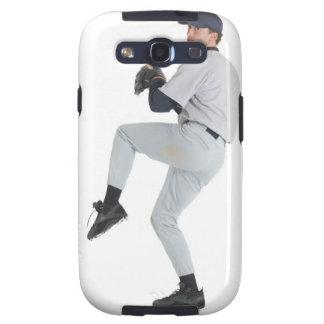 a caucasian man wearing a white baseball uniform galaxy SIII cover