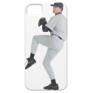 a caucasian man wearing a white baseball uniform iPhone SE/5/5s case