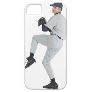 a caucasian man wearing a white baseball uniform iPhone SE/5/5s case