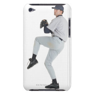 a caucasian man wearing a white baseball uniform iPod touch cover