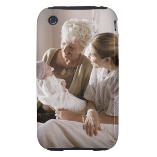 a caucasian mother shows her new baby to her own tough iPhone 3 cover