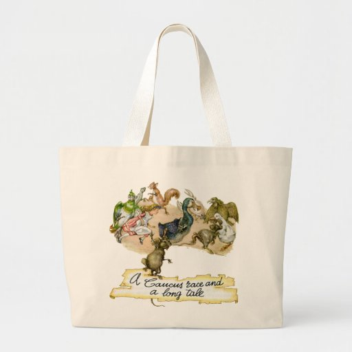 A Caucus Race and a Long Tale Canvas Bags