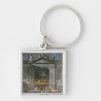 A Cavalcade in the Winter Riding School Key Chains