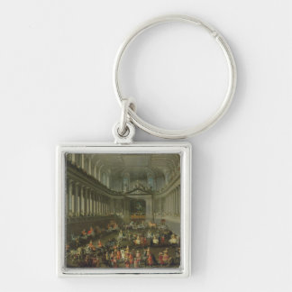 A Cavalcade in the Winter Riding School Keychain