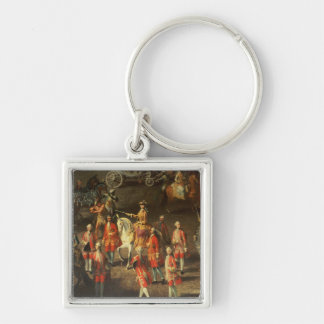 A Cavalcade in the Winter Riding School Keychains