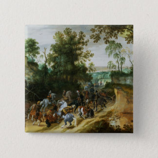 A Cavalry Column Ambushed on a Woodland path Pinback Button
