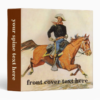 A Cavalry Officer by Remington, Vintage Military 3 Ring Binders