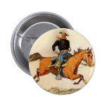 A Cavalry Officer by Remington, Vintage Military Button