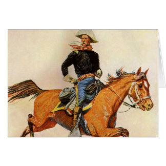 A Cavalry Officer by Remington, Vintage Military Greeting Cards