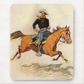 A Cavalry Officer by Remington, Vintage Military Mouse Pad