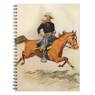 A Cavalry Officer by Remington Vintage Military Spiral Notebooks