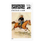 A Cavalry Officer by Remington, Vintage Military Stamps