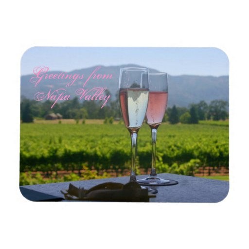 A celebatory greeting from Napa Valley Rectangular Photo Magnet