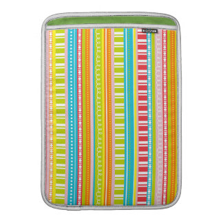 A Celebration of Stripes in Rainbow Colors MacBook Air Sleeve