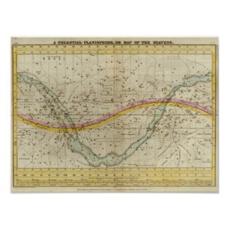 A Celestial Planisphere Poster
