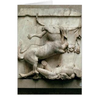 A Centaur triumphing over a Lapith Card